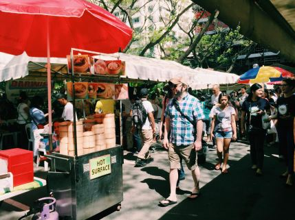 Nestled in the heart of Salcedo Village, the Saturday market attracts people from all over the metro with an ample selection of fresh seafood, produce, and ready-to-eat meals (Source: miccadj)