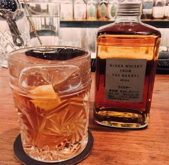 Manila Old Fashioned with Nikka Whisky From The Barrel (Source: @micca.dj Instagram)