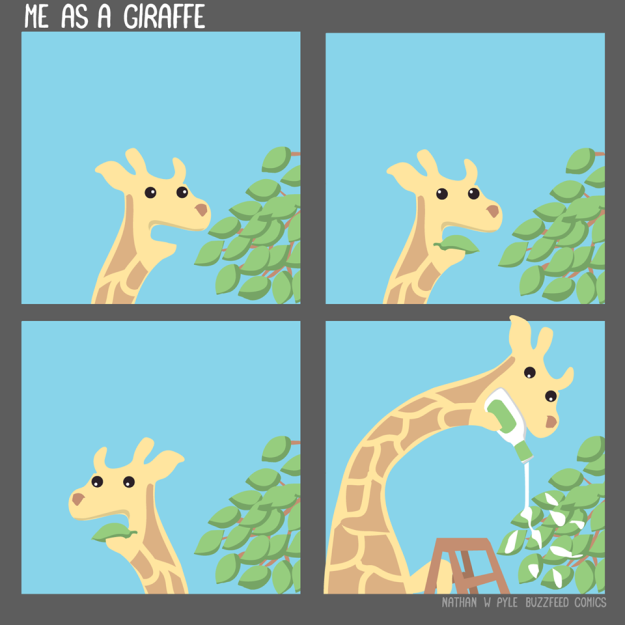 Buzzfeed Comics Me As A Giraffe